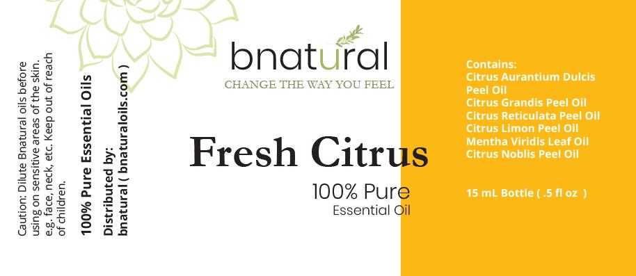 refresh citrus essential oil blend