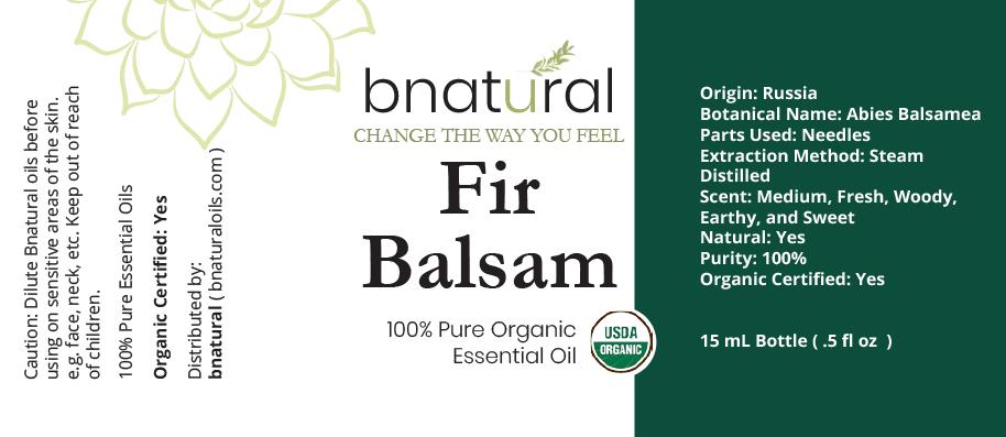 fir balsam organic essential oil